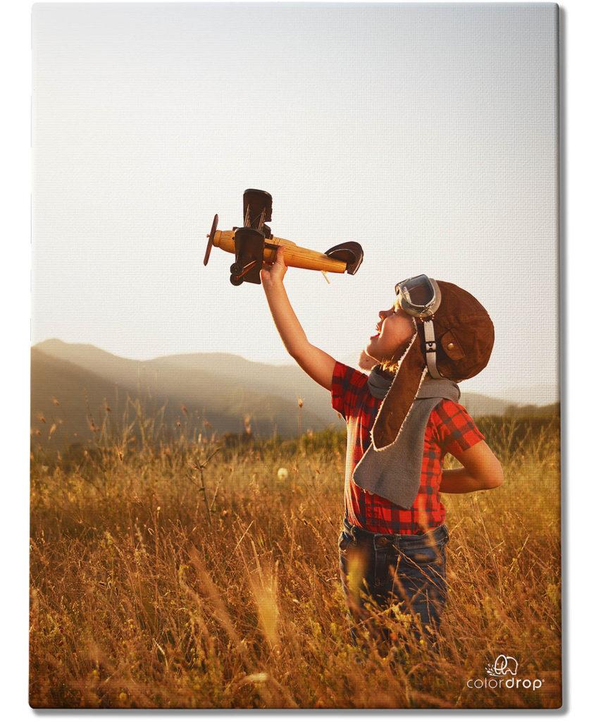 printing canvas colordrop boy plane